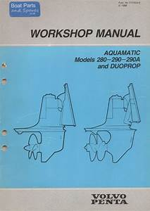 Volvo Penta Manual 280 290 290a And Duoprop