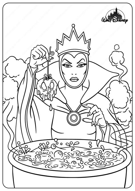 printable disney  evil queen coloring pages