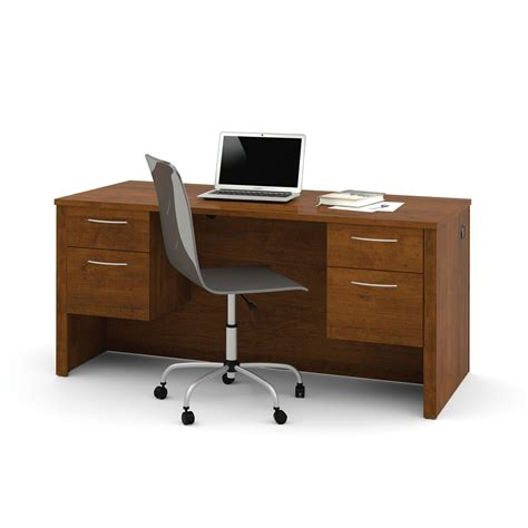 sam s club computer desk embassy executive desk with dual half peds in tuscany brown