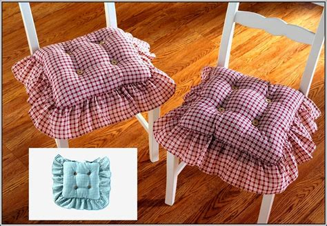 Kitchen Chair Cushions With Ruffles Download Page ? Home