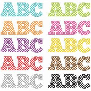 Clip art alphabet 260 polka dot letters for Dots alphabet letter