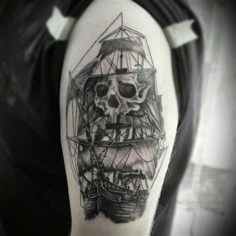 95+ Best Pirate Ship Tattoo Designs & Meanings - (2019)