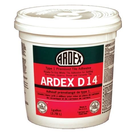Mastic Tile Adhesive Time by Ardex D 14 Type 1 Premixed Tile Adhesive Mastic 1 Gallon