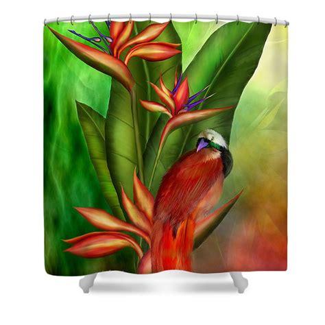 bird of paradise shower curtain birds of paradise shower curtain for sale by carol cavalaris