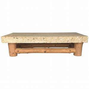 monumental fossil stone coffee table by michael taylor for With fossil coffee table