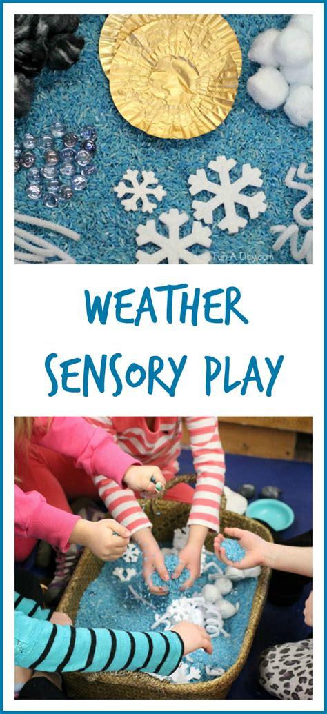 preschool weather activities sensory bin 503 | Preschool weather activities weather sensory play