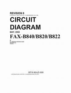 Canon Fax B820 B822 B840 Circuit Diagram