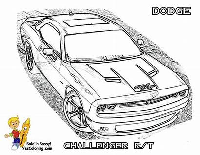 Dodge Coloring Challenger Pages Cars Charger Cool