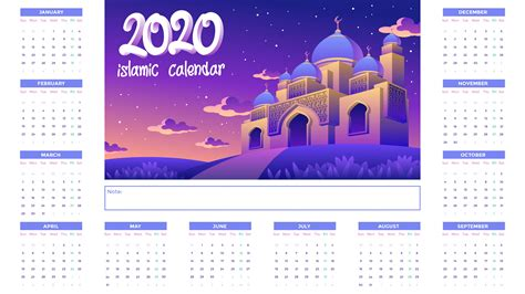 islamic calendar  golden mosque  night