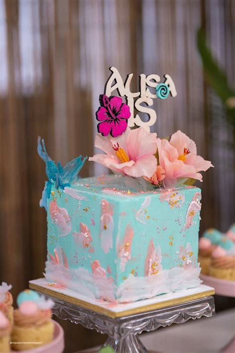tropical moana themed party pretty  party party ideas