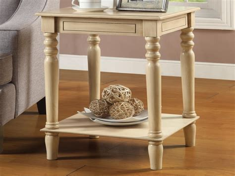 White end tables living room, distressed white accent