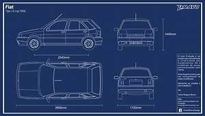 Blueprint Fiat Tipo 1 6 Mpi 1996 By Victorbravodesign On