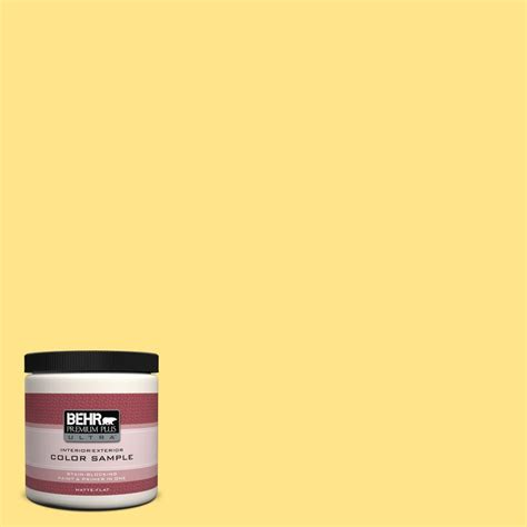 behr premium plus ultra 8 oz 370a 3 bicycle yellow interior exterior paint sle 370a 3u