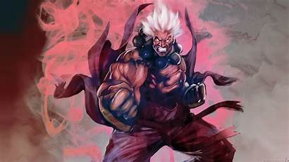 Akuma Oni Fighter Street Artwork Hair Ryu