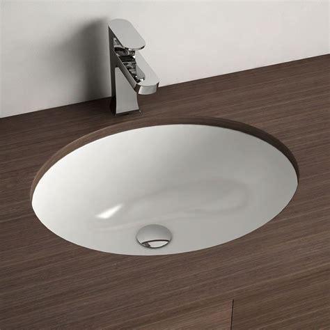vasque a encastrer vasque 224 encastrer par dessous ovale 48 cm c 233 ramique asako