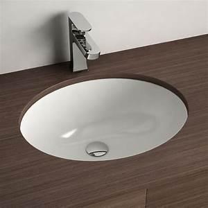 Vasque à Encastrer : vasque encastrer par dessous ovale 48 cm c ramique asako ~ Edinachiropracticcenter.com Idées de Décoration