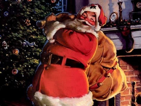cheery santa with his sack otrazhenie