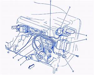 Chevy Blazer 1994 Inside Dash Electrical Circuit Wiring