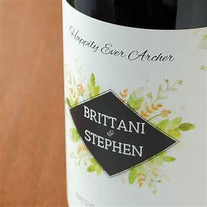 close up of wedding wine label With creating your own wine brand