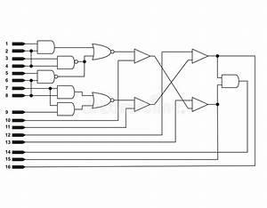 Logic Diagram Stock Illustration  Illustration Of Circuit