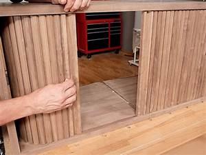 Gluing Techniques  Making Tambour Sliding Cabinet Doors