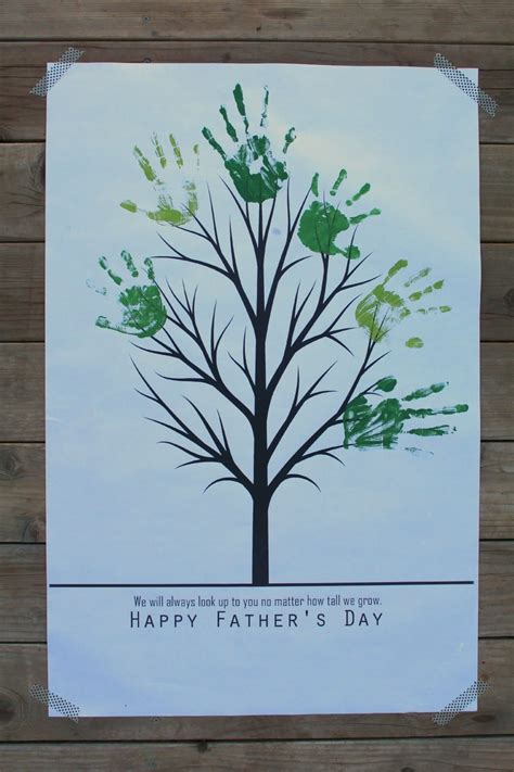 Fathers Day Handprint Tree A  Ee    Ee   And A Glue Gun