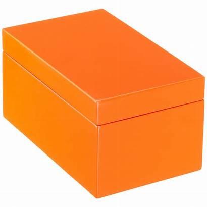 Storage Clipart Box Boxes Rectangular Orange Lacquered