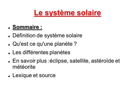 le syst 232 me solaire sommaire d 233 finition de syst 232 me solaire ppt t 233 l 233 charger