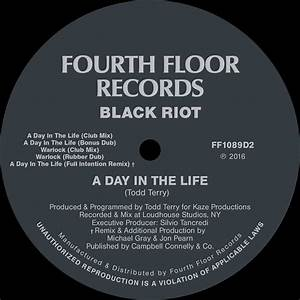 les chroniques de hiko black riot a day in the life With fourth floor records