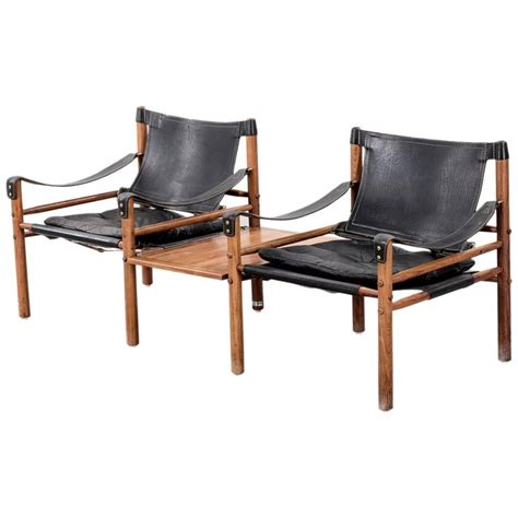 arne norell safari sirocco chairs in rosewood with