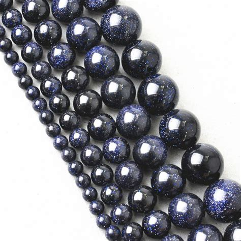 high quality aaadark blue crystal natural stone beads