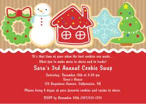 christmas holiday cookie swap exchange invitations 1 00 each http www festivityfavors com