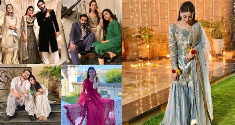 beautiful clicks   stars komal meer  anmol baloch  drama qurbatain pakistani drama