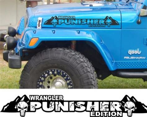 product  punisher edition version  hood decals