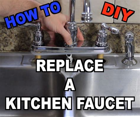 how do you replace a kitchen faucet how to replace a kitchen sink faucet