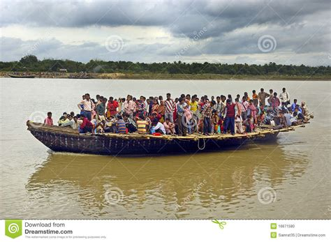 Boat Transport In India by Ferry Boat Service In West Bengal India Editorial Image