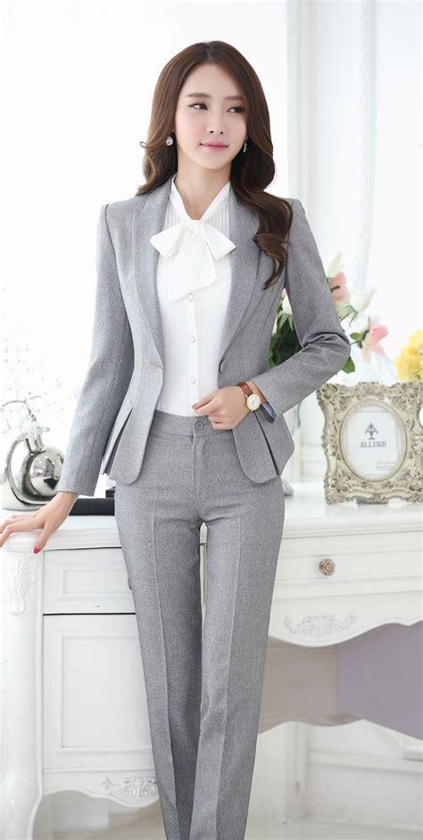 v ements de bureau femme formelle costumes pantalons pour femmes d 39 affaires
