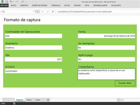 Como Se Hace Una Web Con Templates Html5 by Formulario De Captura En Excel Que Guarda Datos En Otra