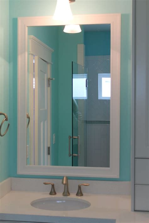 Craftsman Style Bathroom Mirrors by White Craftsman Style Mirror Frame Kit To Go With Your New