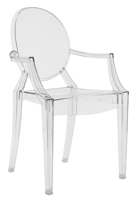 louis ghost stackable armchair transparent