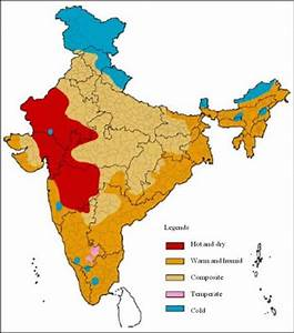 Climate zones of India Source: ECBC (2007) | Download ...