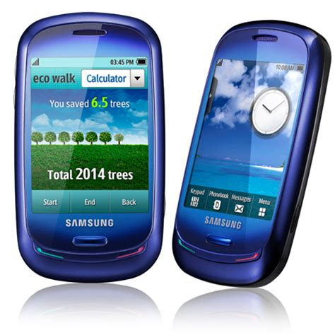blue cell phone samsung blue earth cell phone is made from recycled