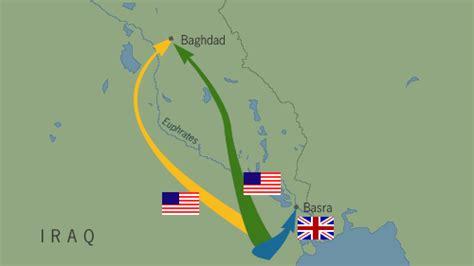 map march   invasion  iraq frontline pbs