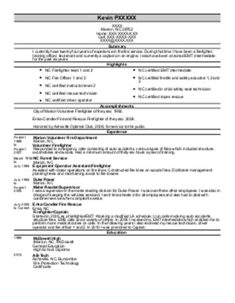 battalion chief resume exle west sacramento
