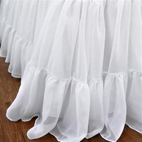 target shabby chic white dust ruffle ruffle bed skirt