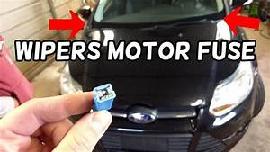 Windshield Wipers Motor Fuse Location Replacement Ford