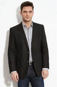 The perfect business casual look- dark jeans paired with button down shirt u0026 blazer | Male ...