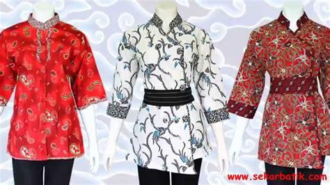 baju batik wanita modern terbaru