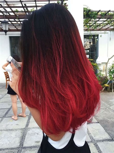 © Jennifer Wizzar Red Ombre Hair Hairr In 2019 Hair