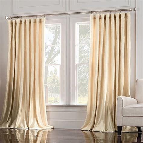 wide window curtains valeron estate silk wide window curtain panel bed